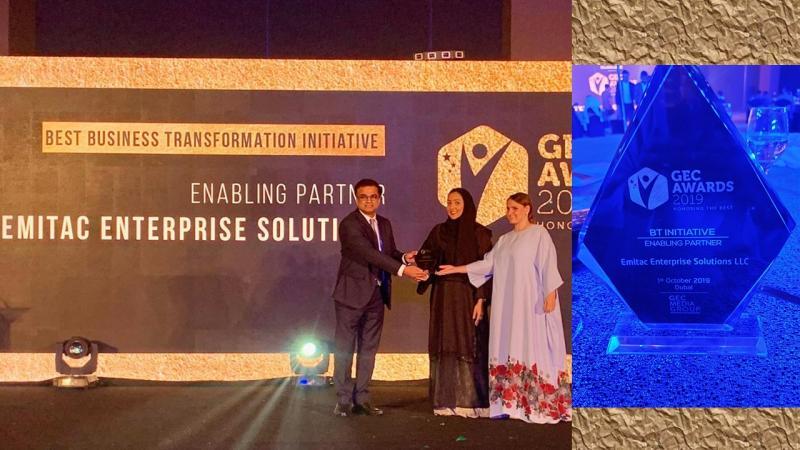 GEC Media Group Awards Emitac Enterprise Solutions Best BT Initiative
