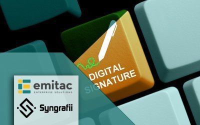 Emitac Enterprise Solutions Provides Exclusive Electronic Document Signature Solutions With Original Wet Ink Through Agreement With Syngrafii Inc.